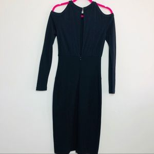 Versace Dresses - Versace Cold Shoulder Long Sleeve Black Dress